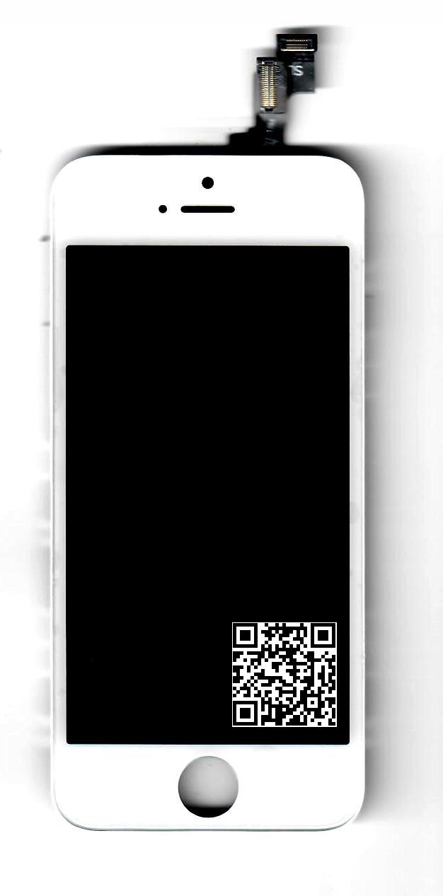 iPhone 5S LCD+DOTYK+RAMKA BIAŁY od P4P