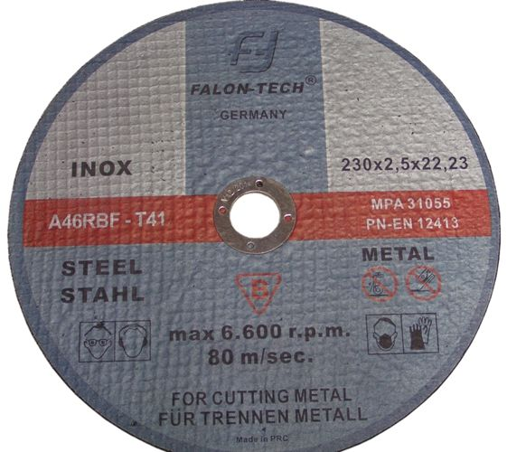 Tarcza tarcze do cięcia metalu 230x2,5 FALON 230mm