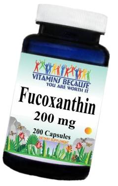 FUCOXANTHIN FUKOKSANTYNA 200mg 200 kaps WYS 24H