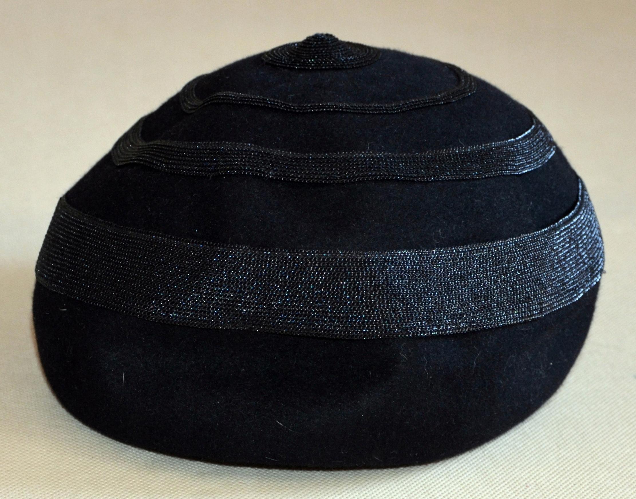 MAYSER - MILZ czarny kapelusz rozmiar 57