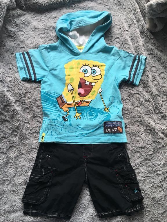 Spongebob Rebel koszulka spodenki r.104