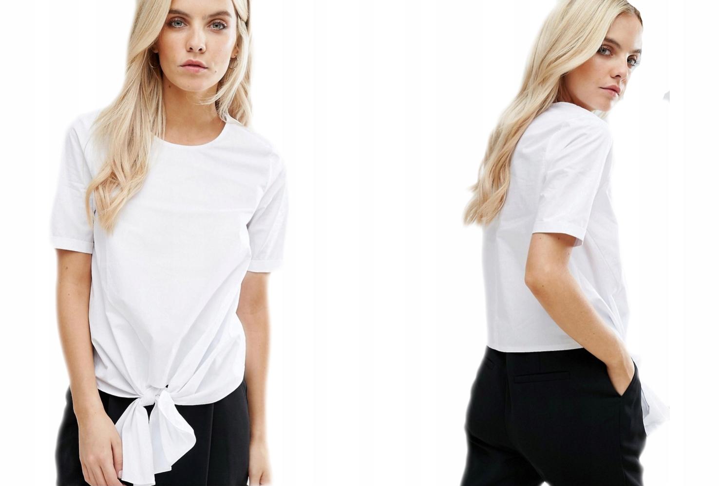 New Look Biała Koszula Wiązanie S/36