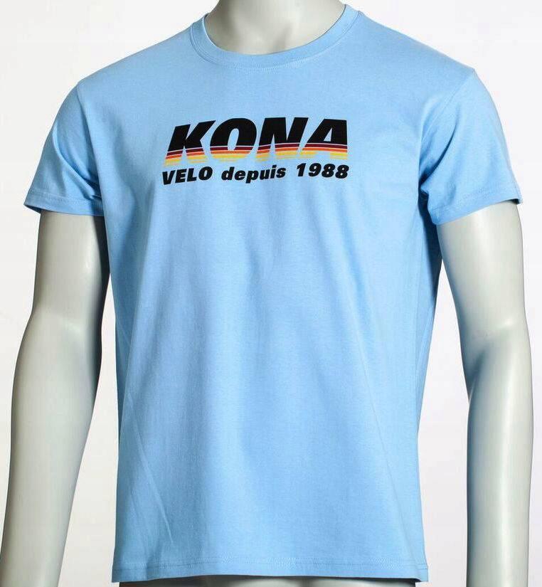 Kona T-shirt Velo Depuis Blue L Wa-wa