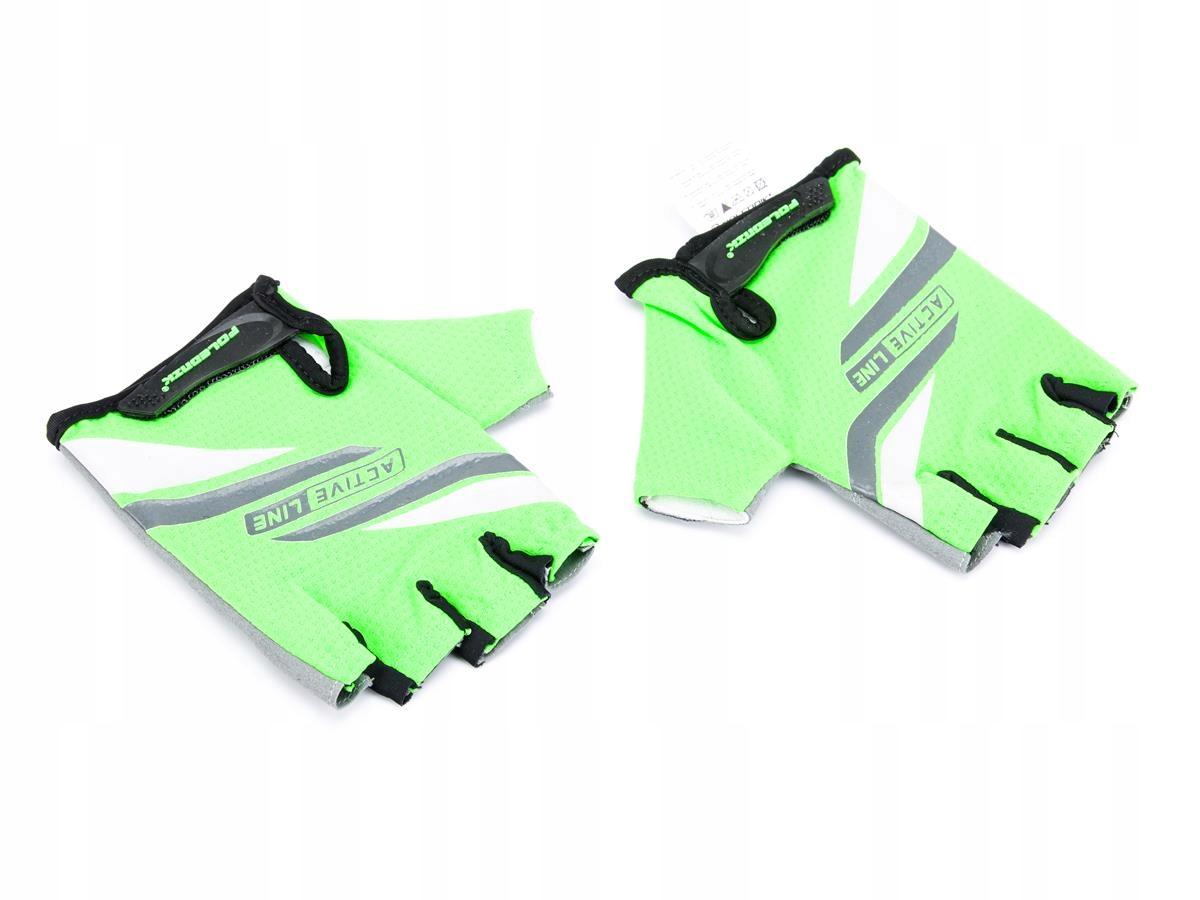 Rękawiczki rowerowe ACTIVE kolor zielony XL