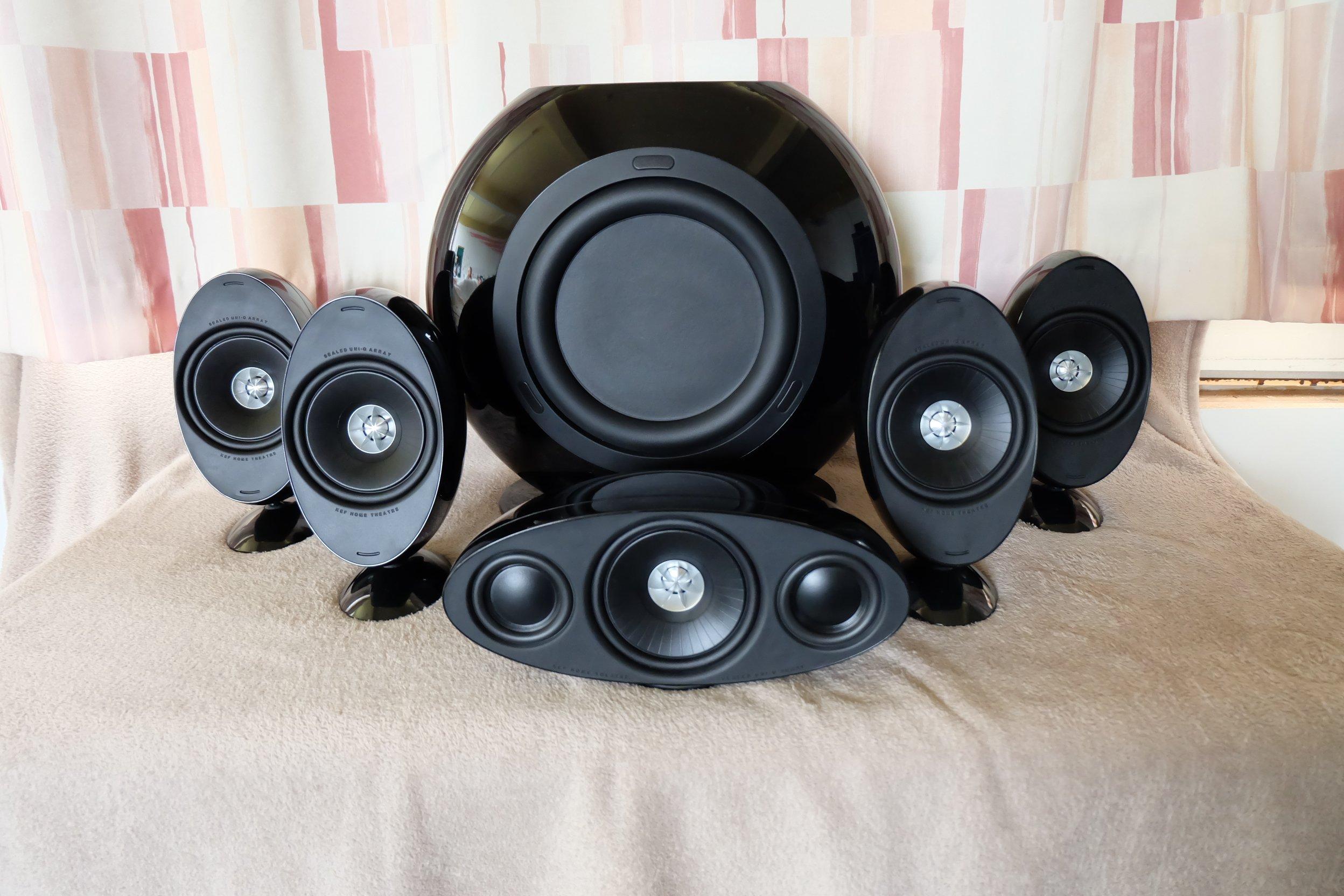 KEF KHT 3005 SE 5.1 czarne High Gloss, stan BDB