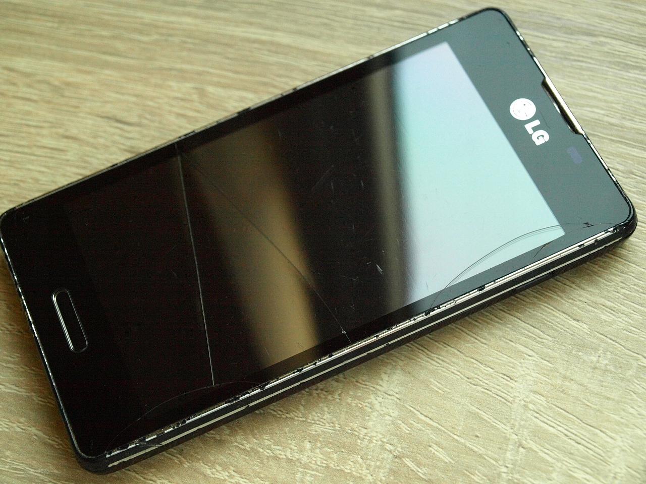 100% Sprawny, LG L5 ii gen. E460, Pęknięty dotyk