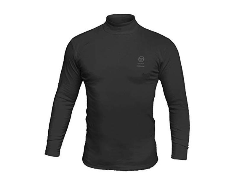 Sergio Tacchini Koszulka Męska Z Golfem Czarna XL