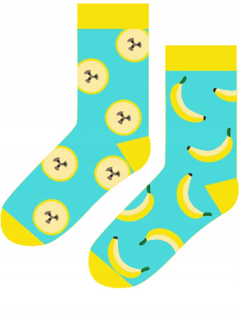 SKARPETY CERBER Hipster Kolorowe banany 43-46