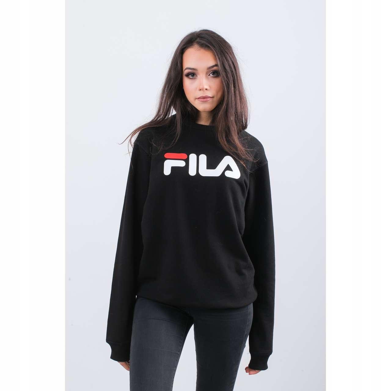 Pure crew sweat 002 black xs (Fila)