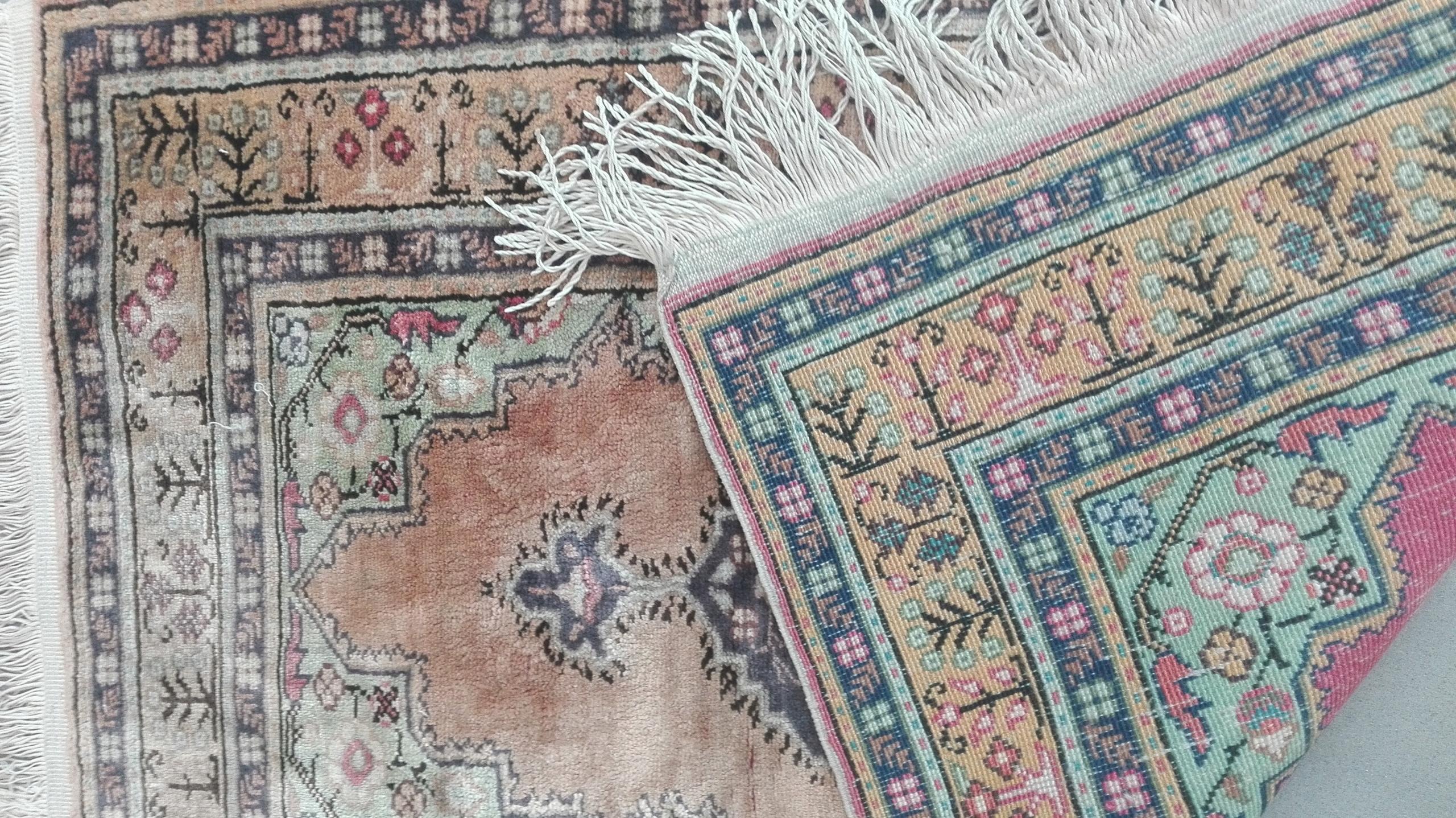Pakistan przepiękny stary dywan 114x59cm 100%wełna