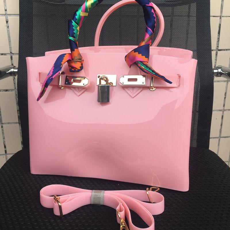 a811562e11ccc Różowa torebka jelly bag designer zara obag pcv - 7325636918 ...