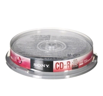 Płyty Sony CD-R 48x(Cake 10 szt.) 700 Mb + koperty