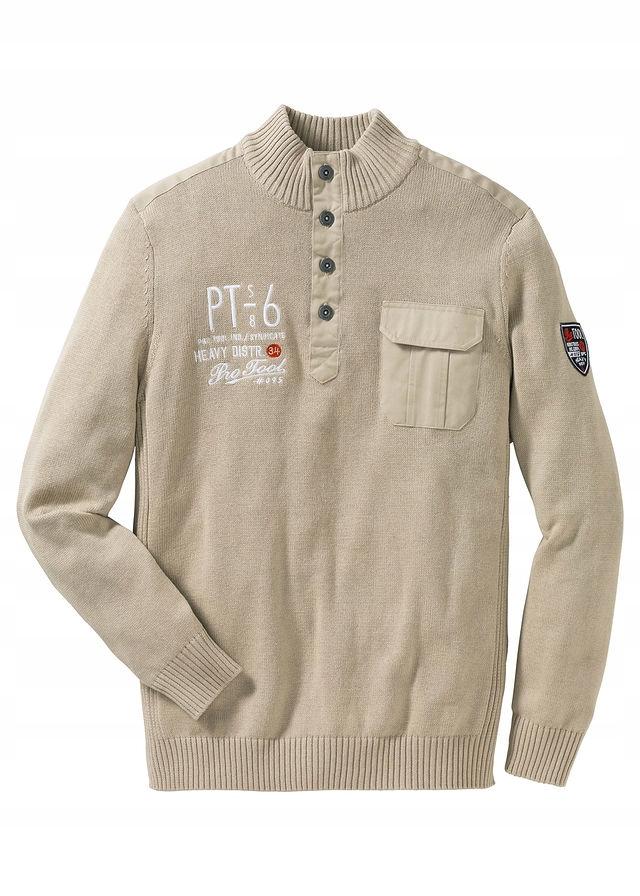 Sweter ze stójką Regula beżowy 44/46 (S) 955207