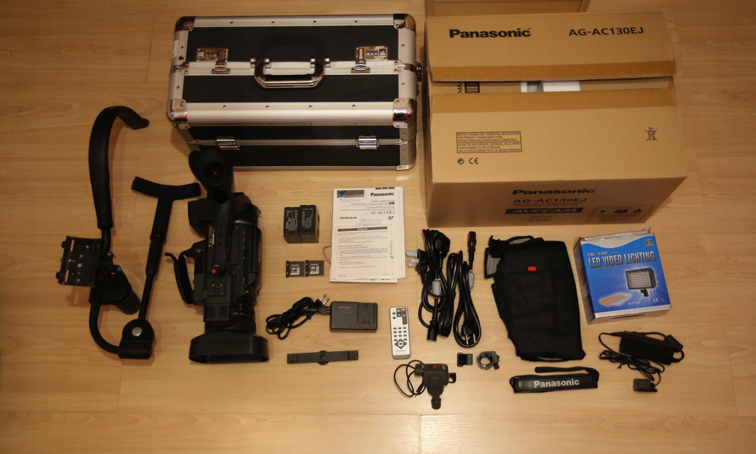 Panasonic AG-AC 130EJ + akcesoria + faktura