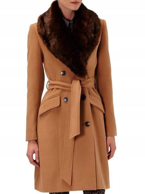 RESERVED- modny PŁASZCZ, kolor camel, rozmiar 34