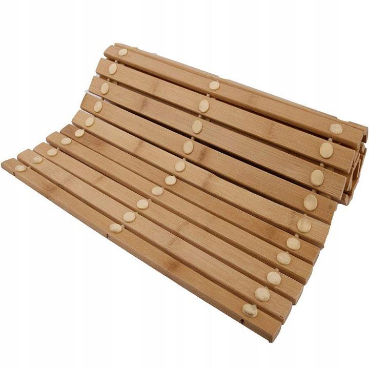 Mata Bambusowa Drewniana Do łazienki Bambus 50x80