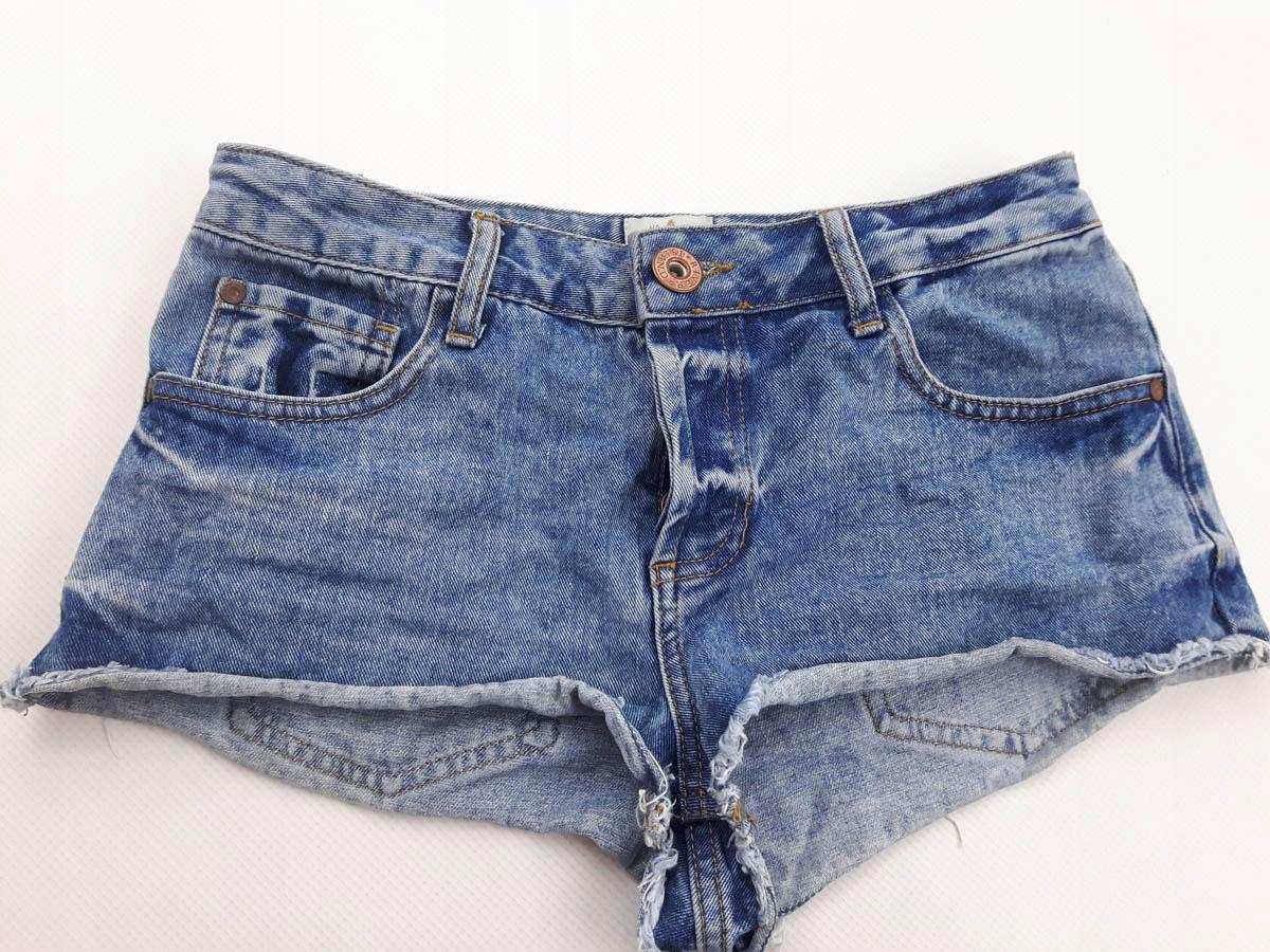 RIVER ISLAND jeansowe KRÓTKIE SPODENKI _ lato 36 S