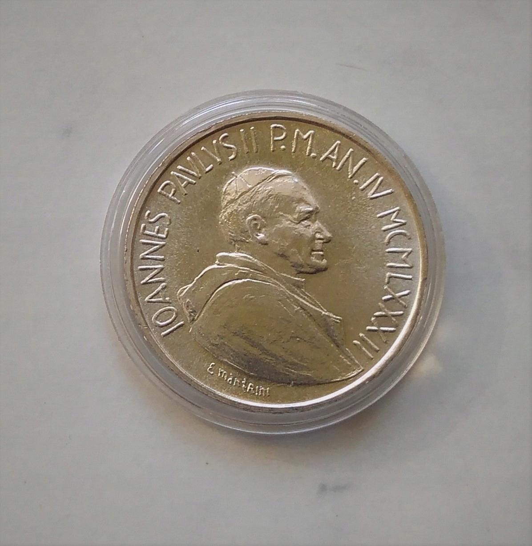 JAN PAWEŁ II, 1000 lirów, Watykan, srebro