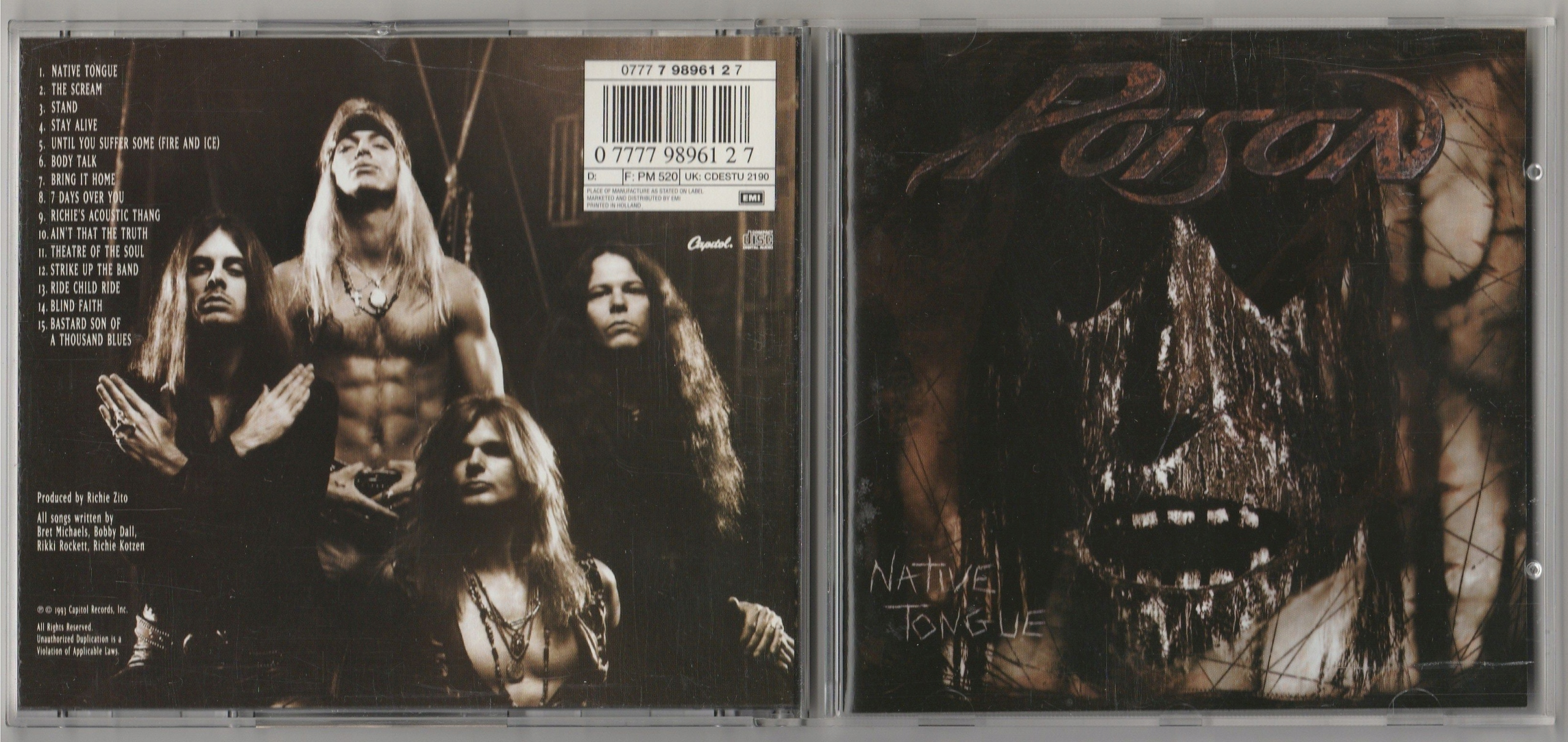 POISON Native Tongue CD 1993 Capitol NL IDEALNA