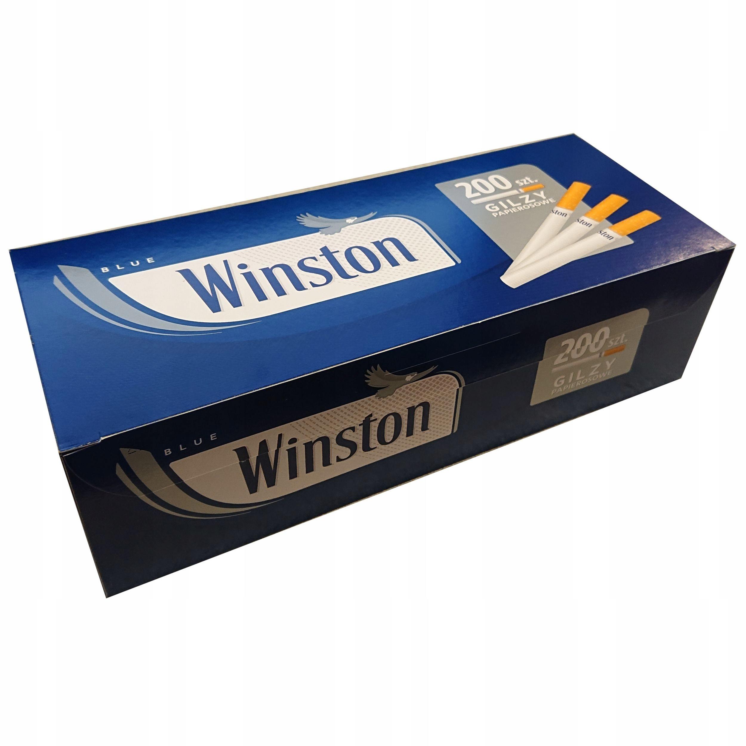 Gilzy Winston Blue 200 szt papierosowe