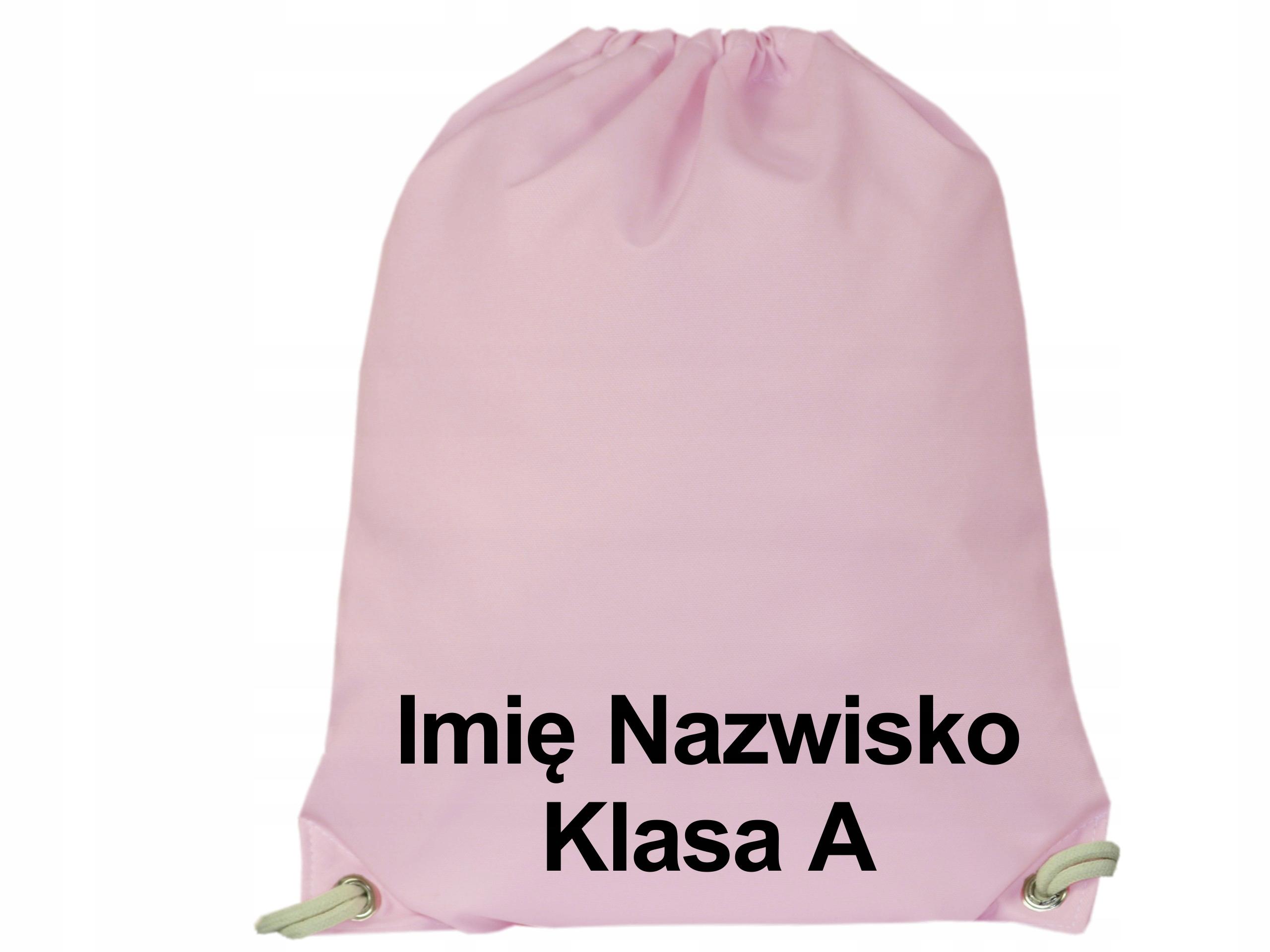 Plecak Worek na Buty Wodoodporny Różowy Twoje Imię