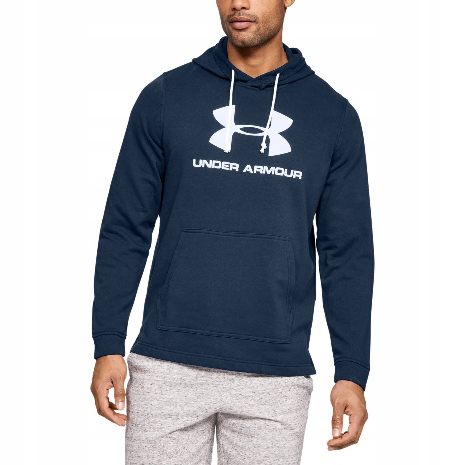 UNDER ARMOUR BLUZA MĘSKA TERRY LOGO HOODIE NAVY S