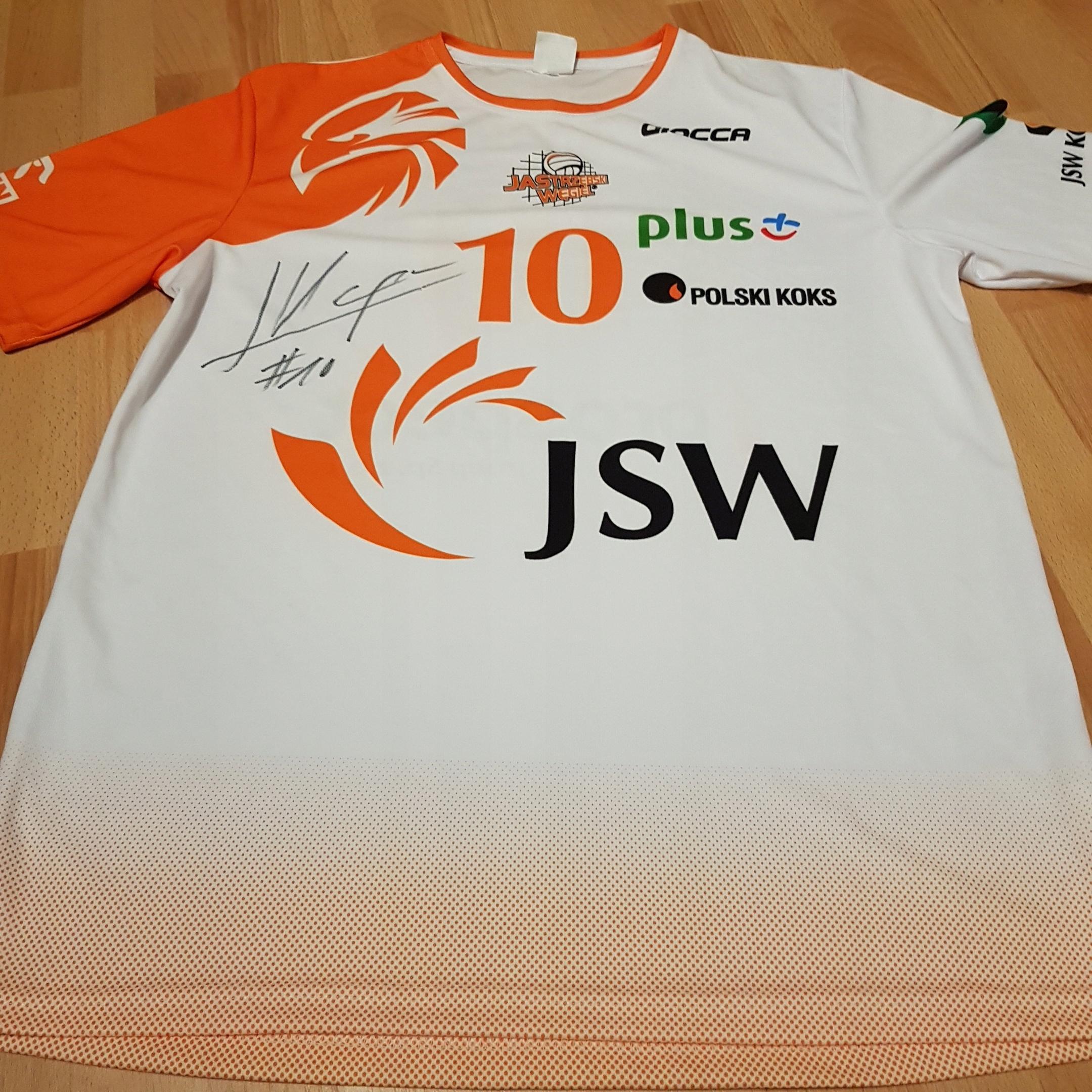 Koszulka Jastrzębski Węgiel z autografem Kampa
