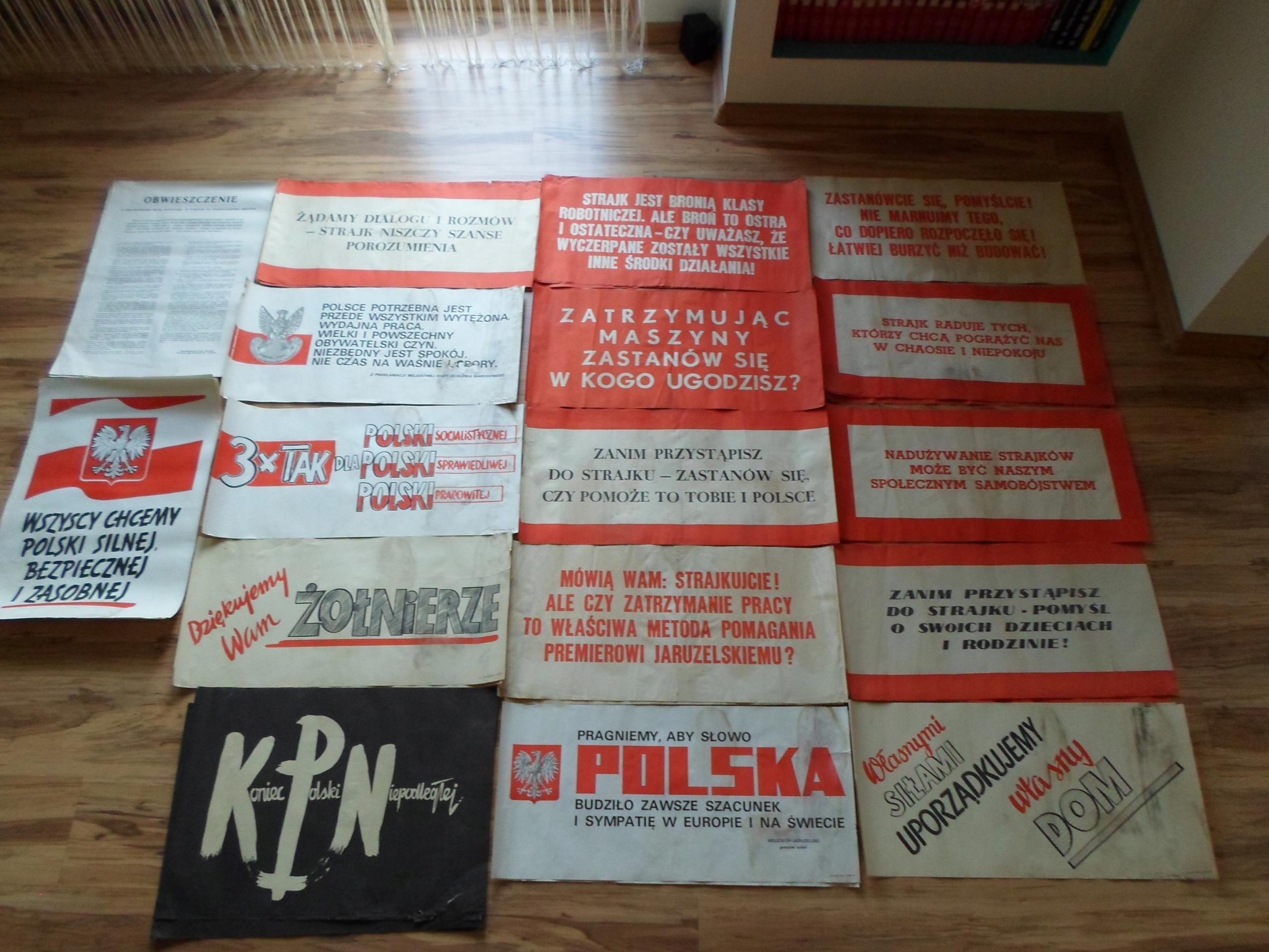 Stare Plakaty Pzpr U Orginały Lata 80 Unikat