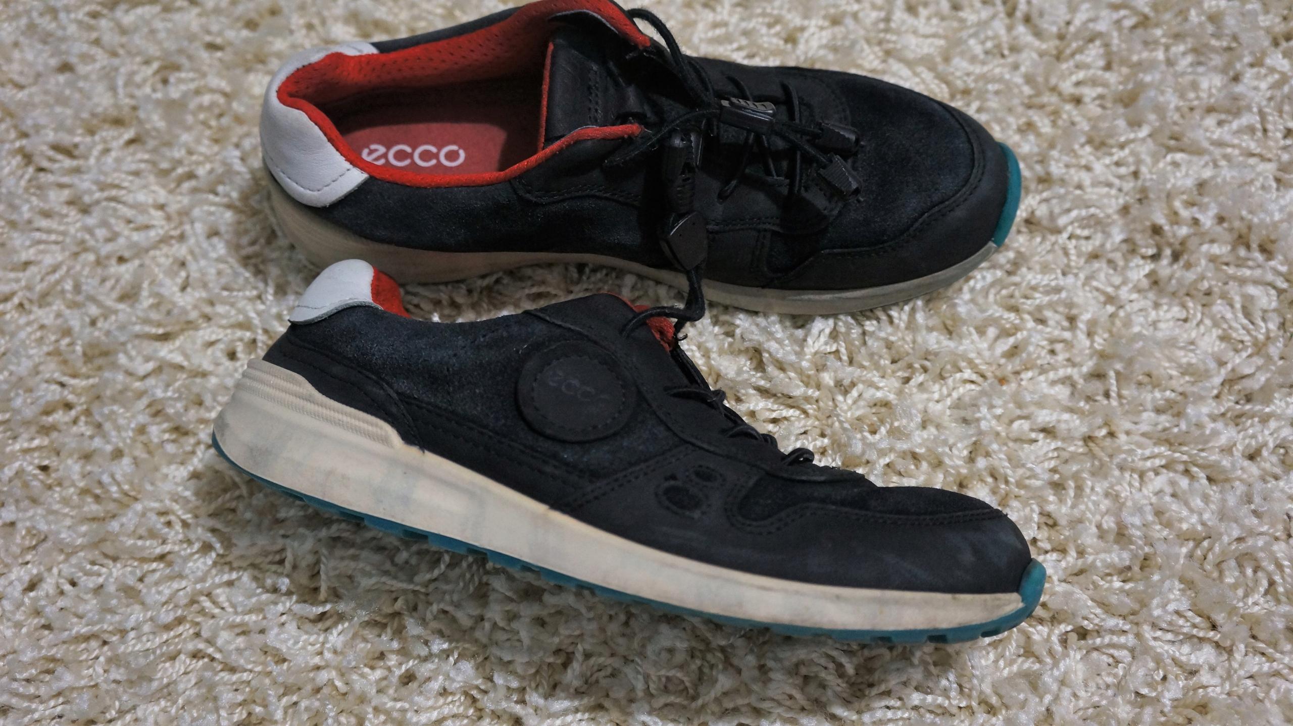 ECCO czarne półbuty sport chłopca skóra zamsz 35
