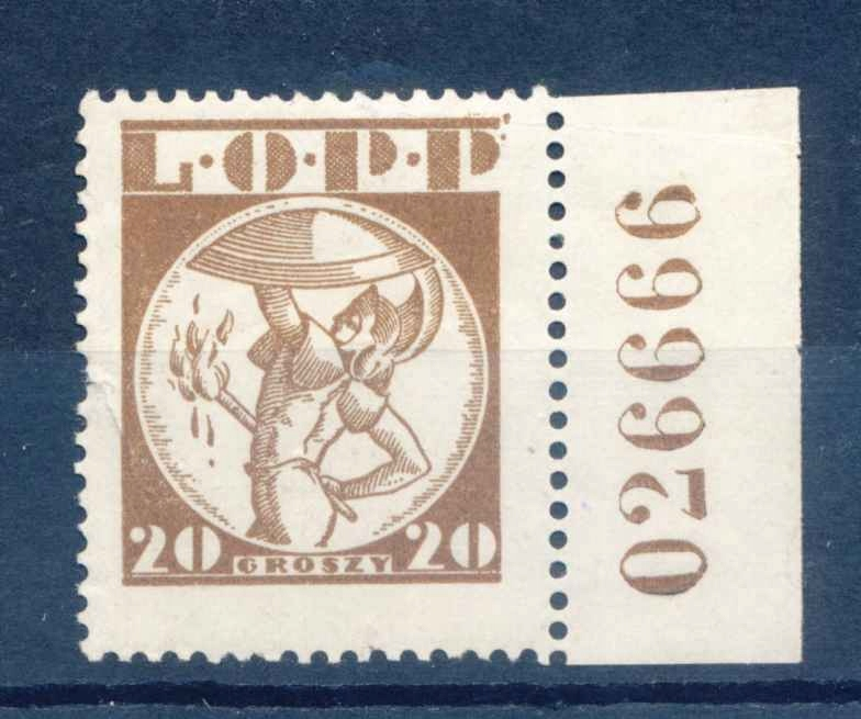 1935 POLSKA, POZNAŃ, LOPP, POCZTA LOTNICZA 20gr.