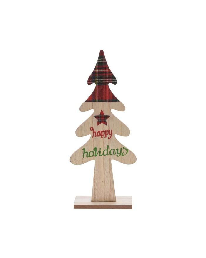 Choinka Drewniana Świąteczna Krata wzór 1