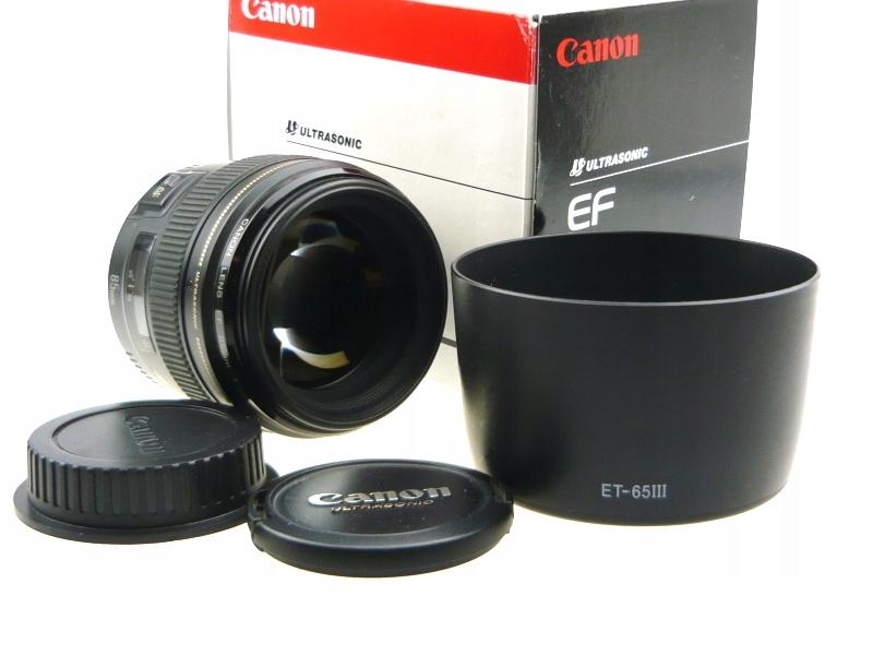 Canon EF 85/1.8 USM pudełko.#