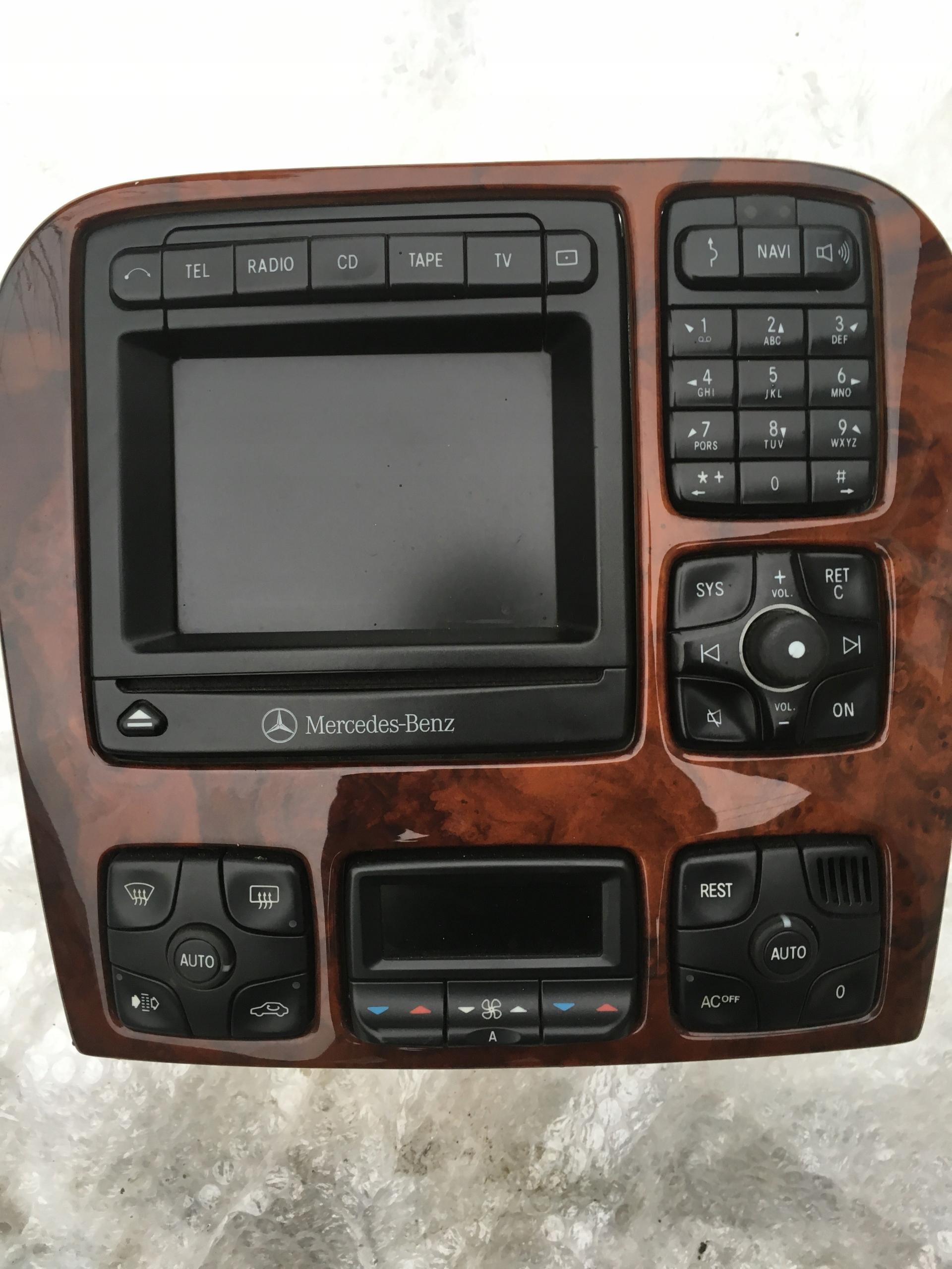 Mercedes W220 RADIO CD NAWIGACJA COMAND - 7826978292 - oficjalne
