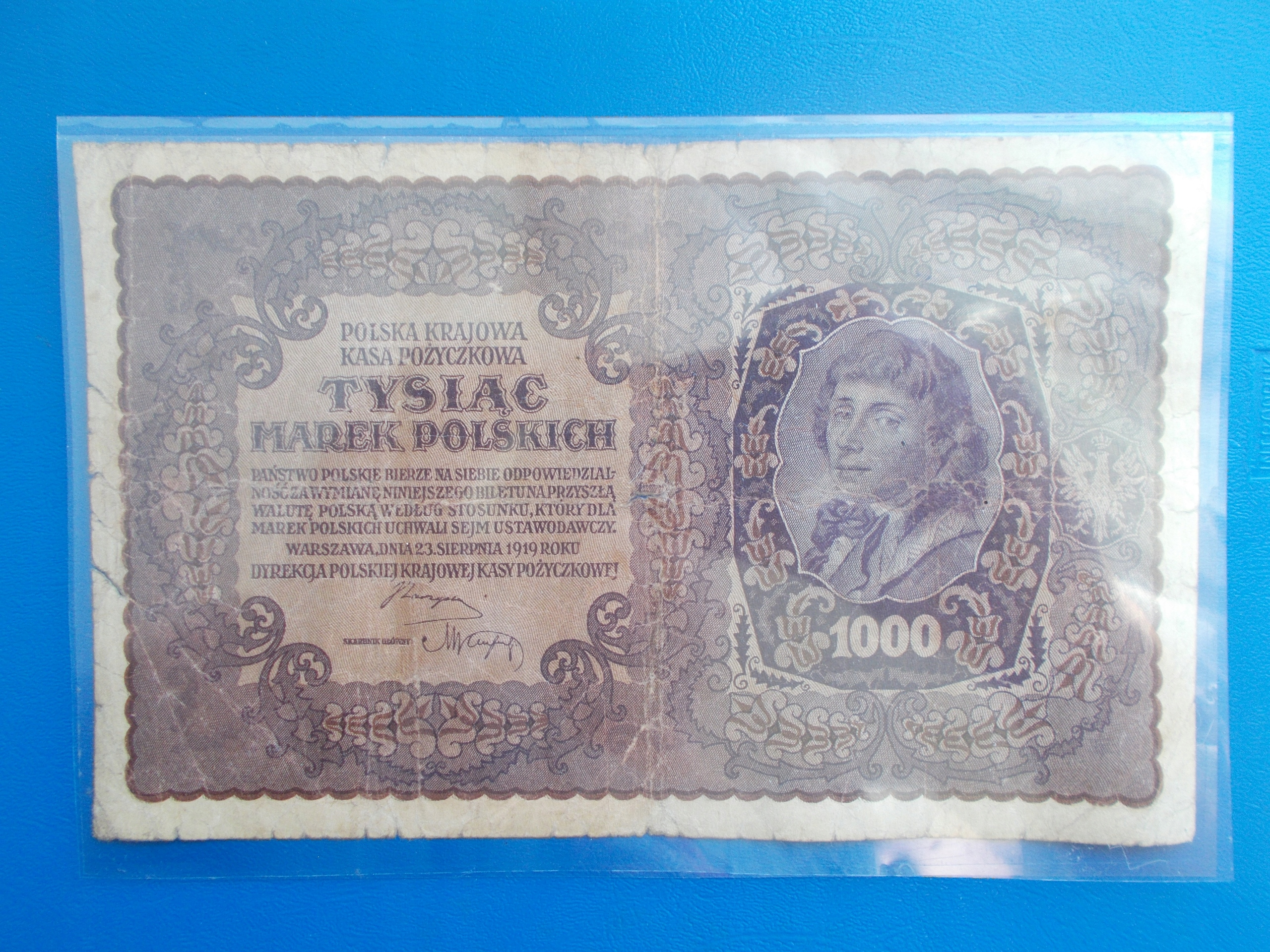 1 000 MAREK POLSKICH-1919-II Serja AY-rzadki