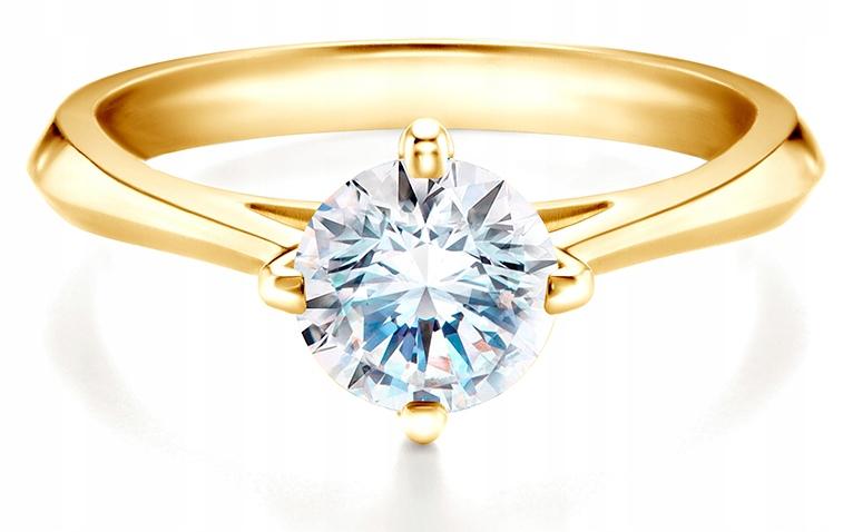 Pierścionek Zaręczynowy Savicki Złoty 100 Ct 6860321547