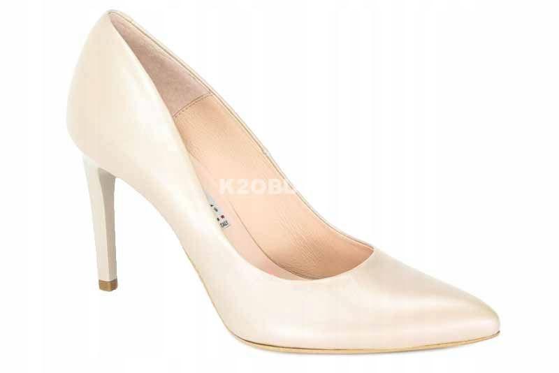 Czółenka Bravo Moda 1373 krem perła r. 35