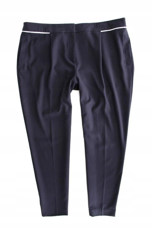 M&S granatowe eleganckie spodnie cygaretki 46