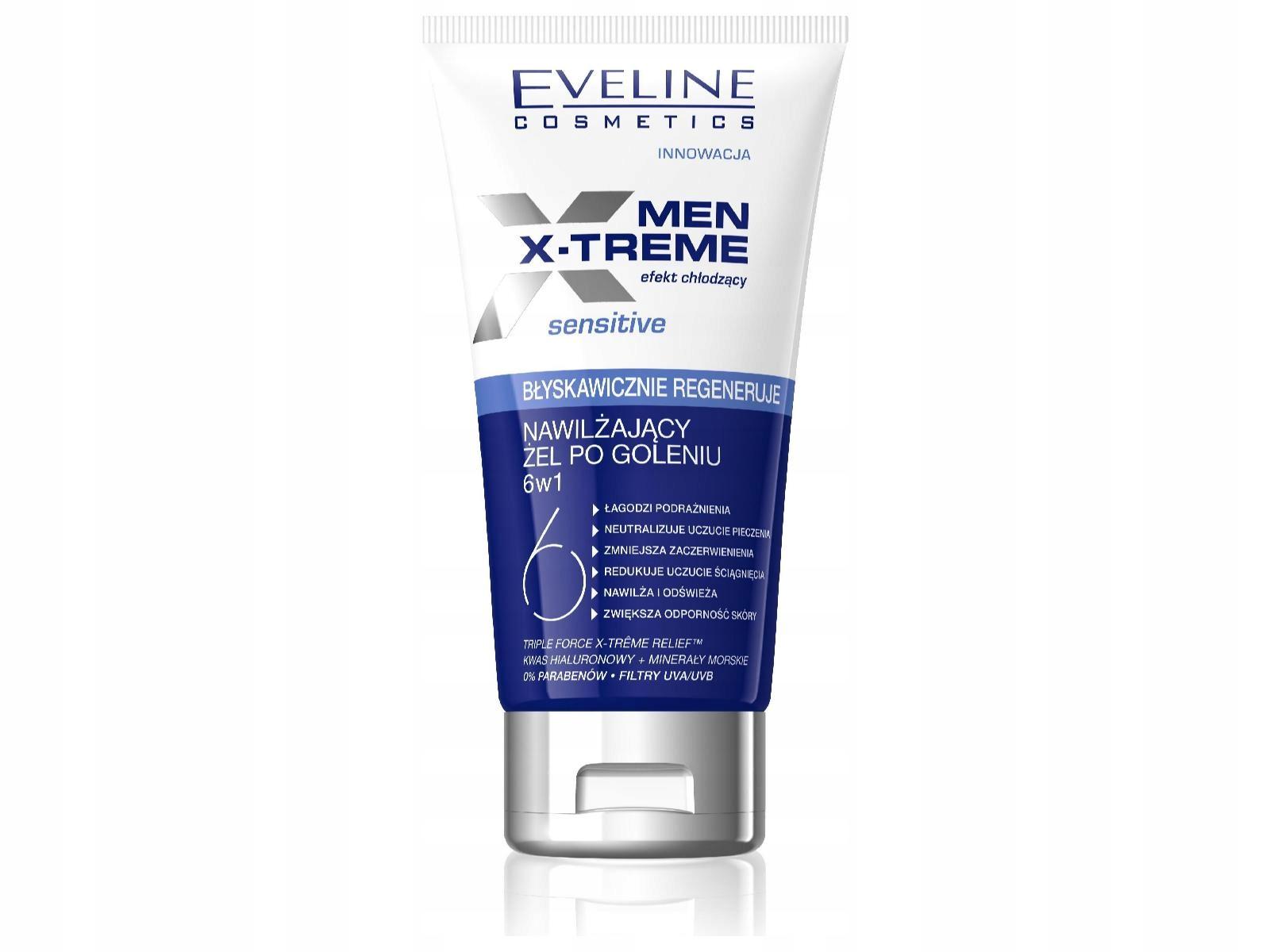Eveline Men X-Treme 6w1 Żel p/goleniu 150ml