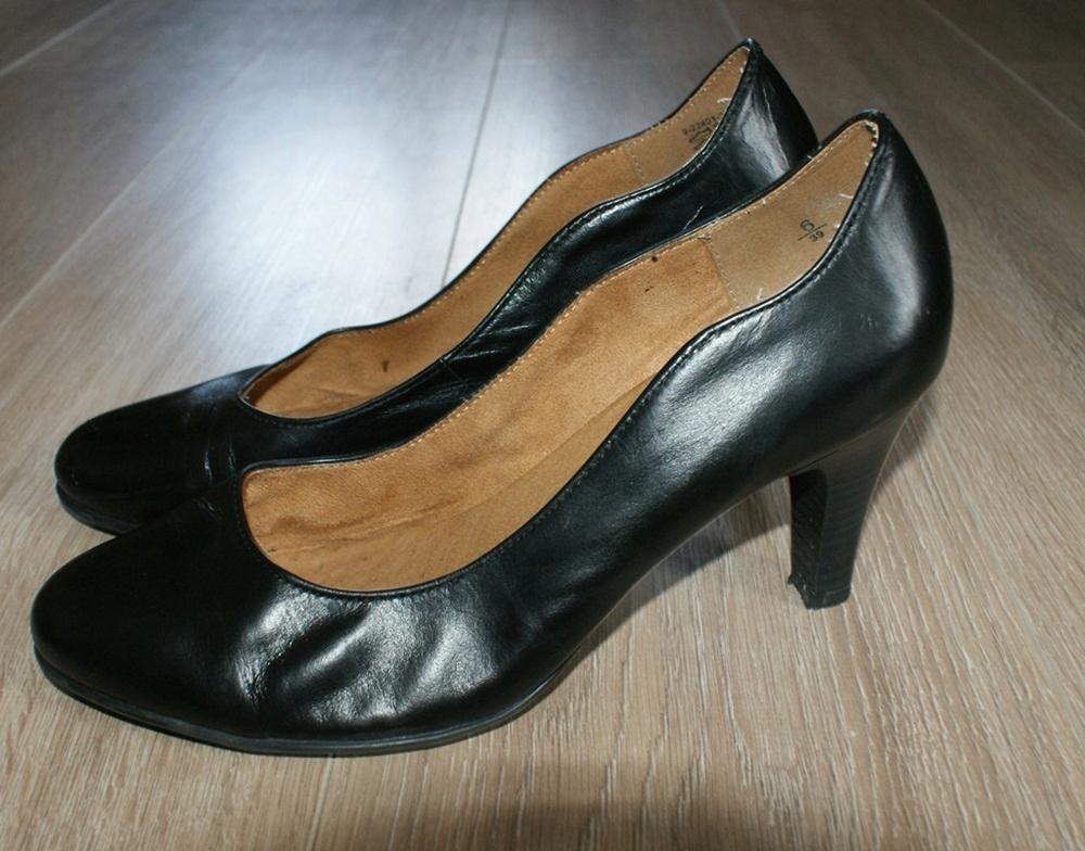CAPRICE półbuty, czółenka czarne _ 39/24,5 cm