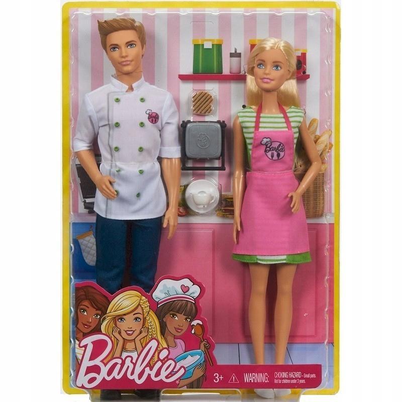 Barbie i Ken w kuchni zestaw FHP64