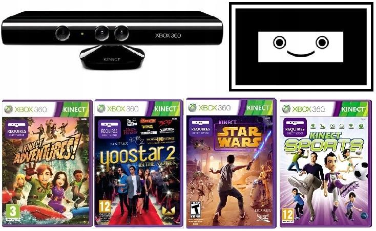 Sensor Kinect + 4 GRY + KARTA Xbox 360 SKLEP AHS
