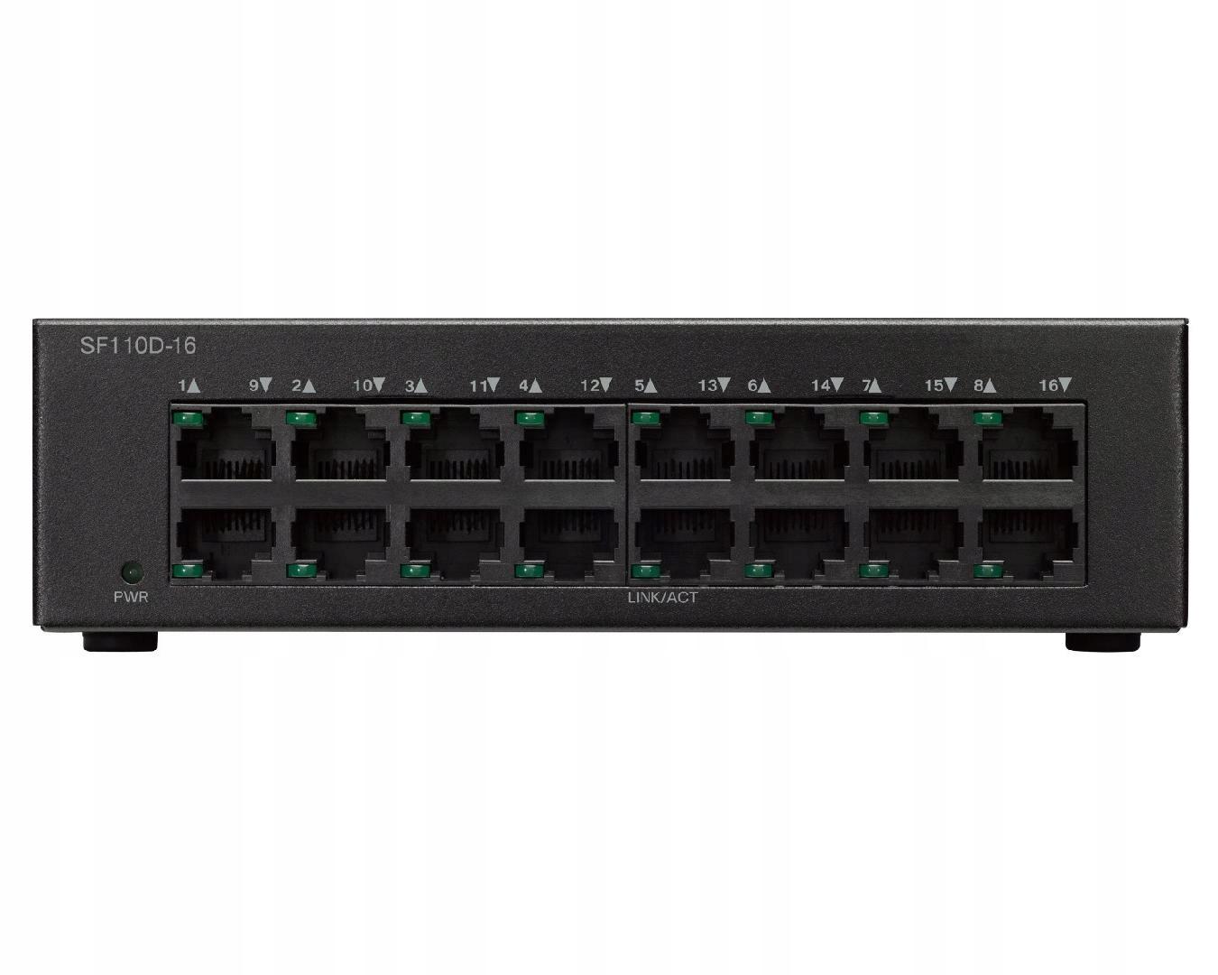 CISCO SF110D-16-EU 16x10/100 DESKTOP SWITCH