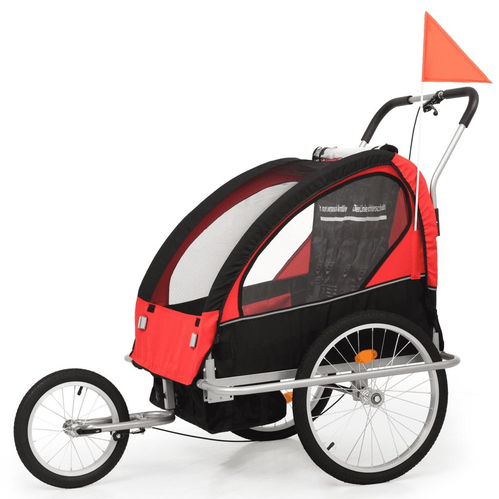 91375 vidaXL Rowerowa przyczepka dla dzieci/wózek
