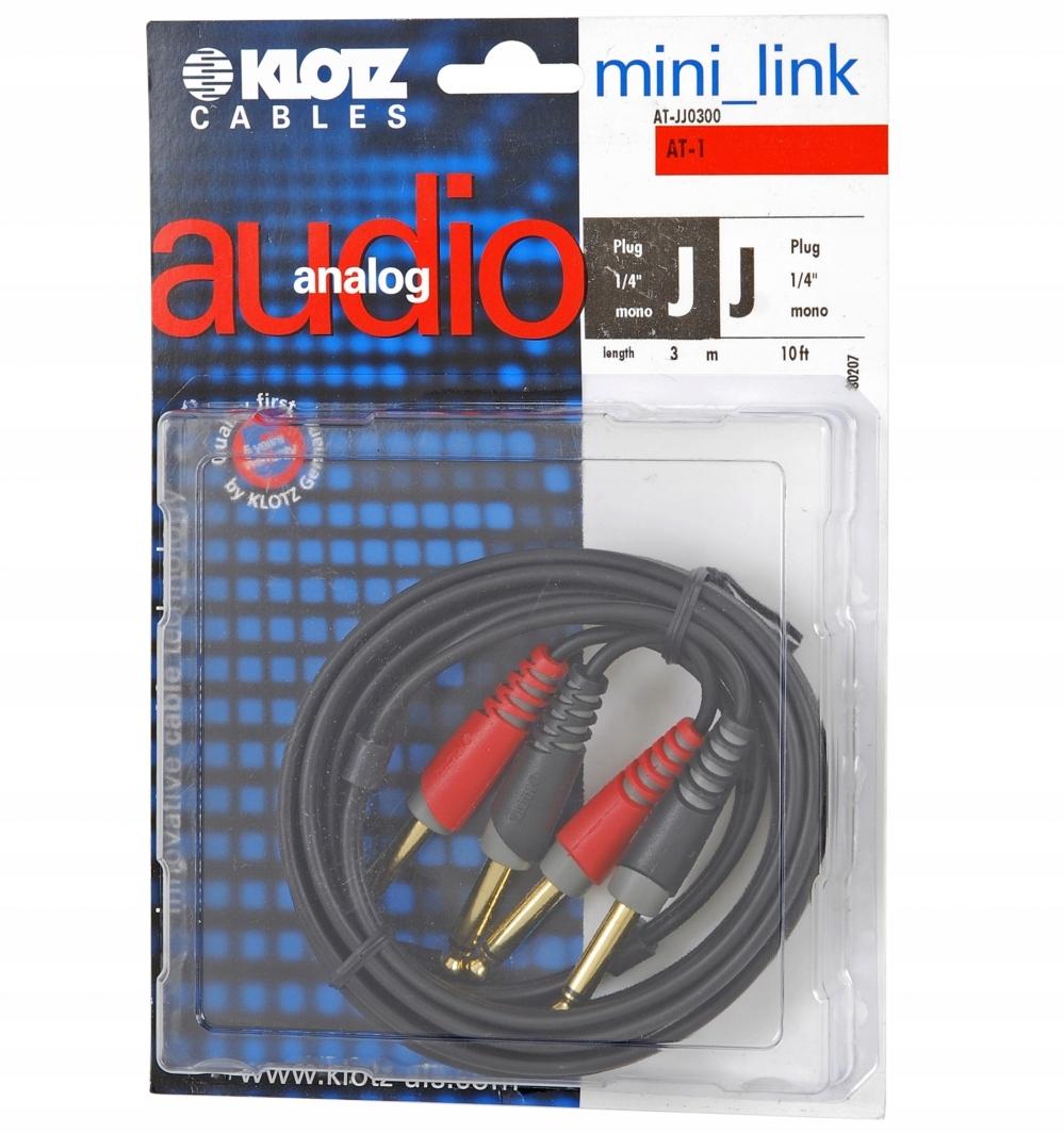 Klotz AT JJ 0300 kabel 2x TS / 2x TS 3m