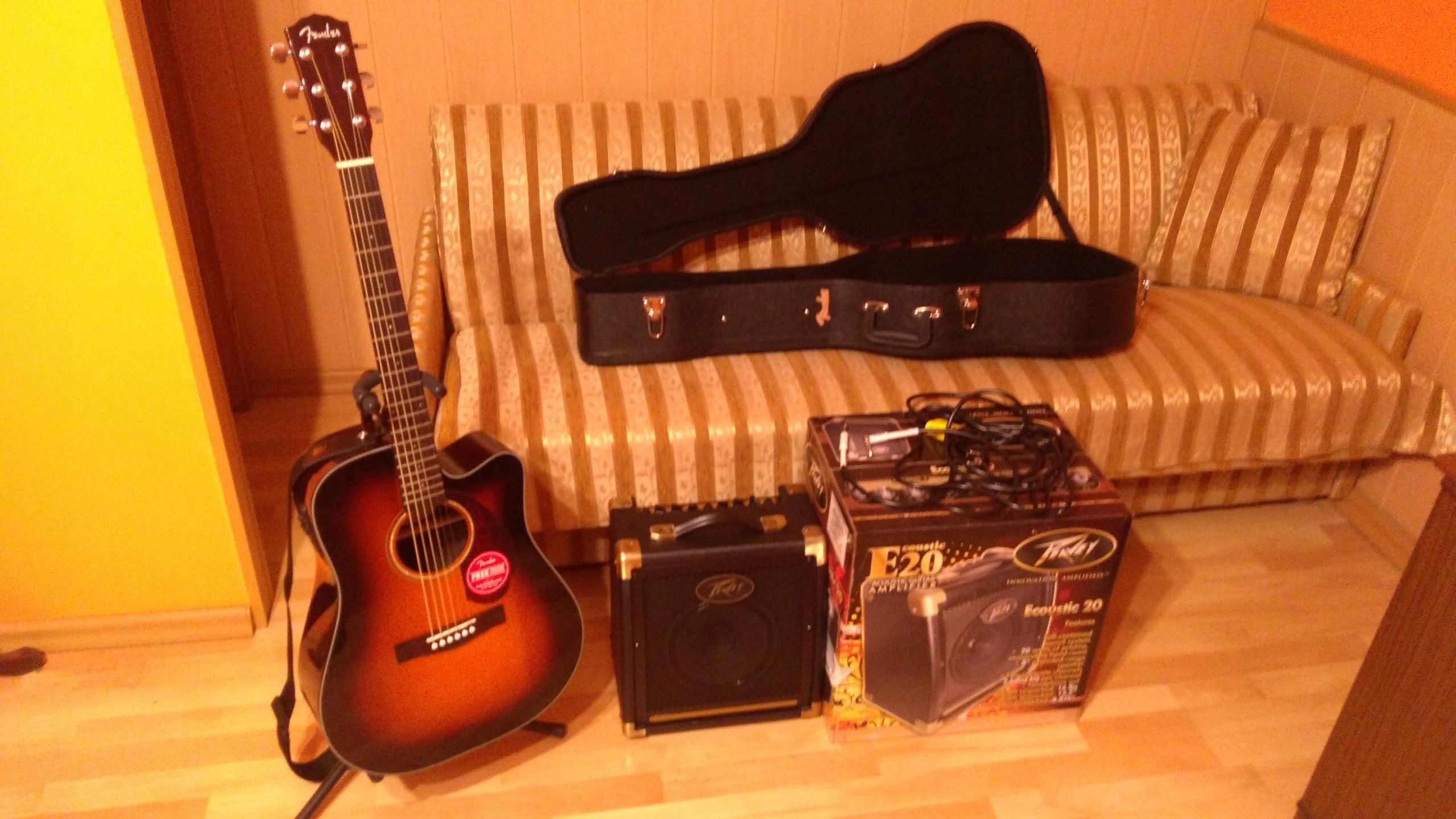 Zestaw Fender CD-140SCE Peavey E20 Hamilton Guitar