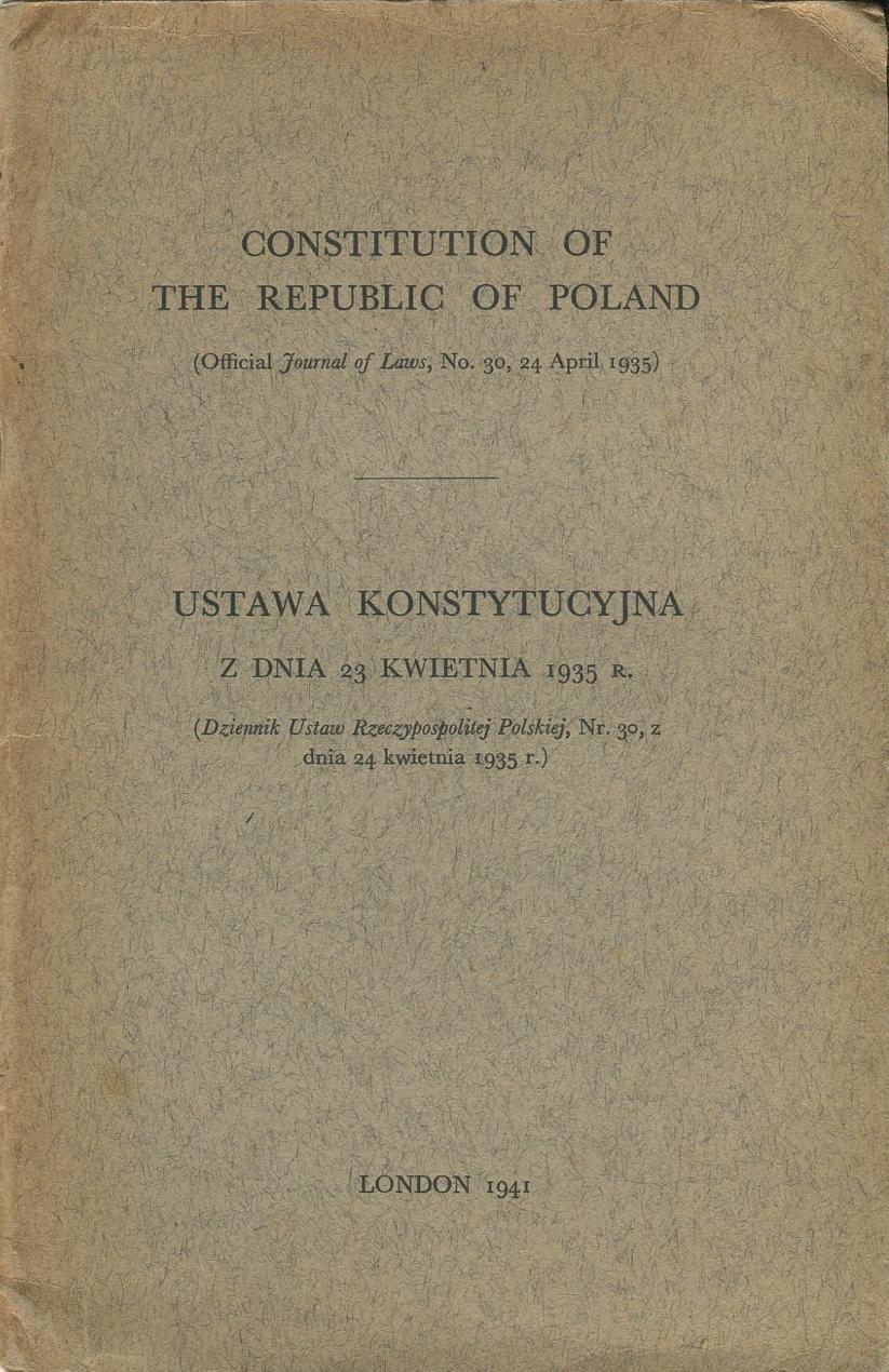 USTAWA KONSTYTUCYJNA Londyn 1941 konstytucja