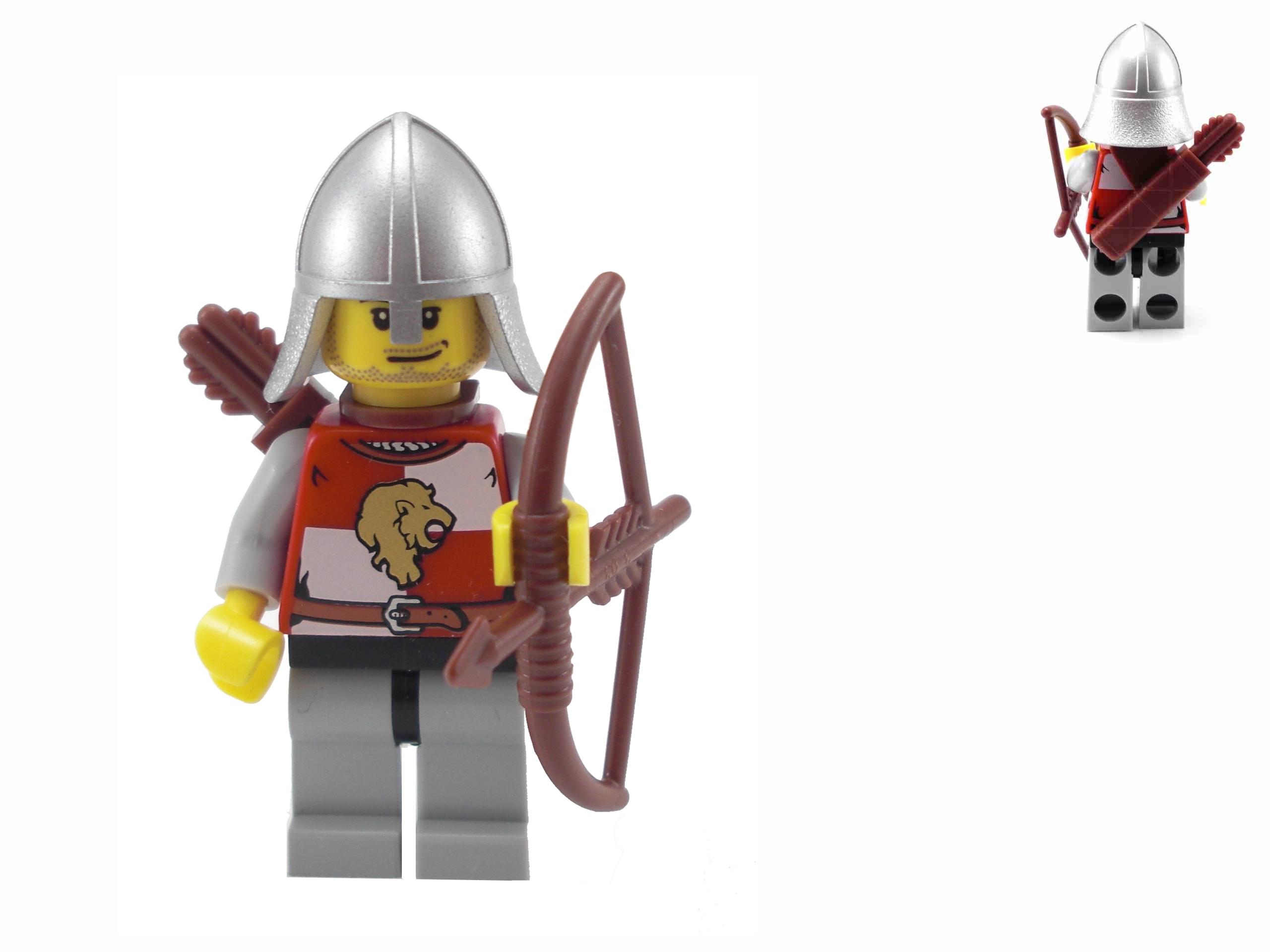 LEGO Castle - Rycerz (Łucznik) herbu Złoty Lew !