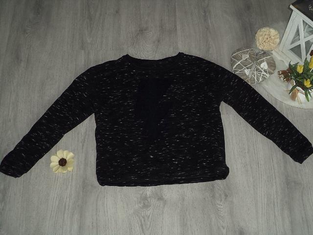 czarna bluza cętki cekiny C&A 134-140