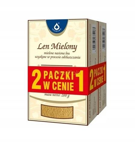 Len Mielony 200+200g, (siemie lniane) Oleofarm