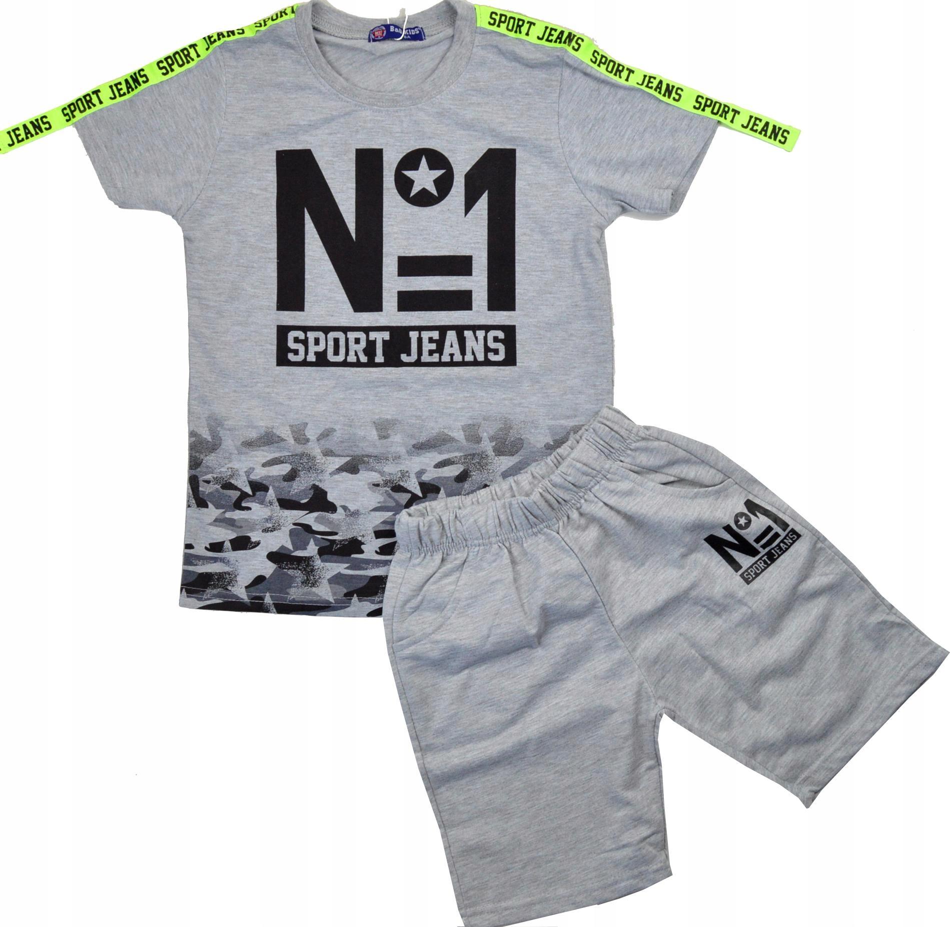 N°1 SPORT KOMPLET t-shirt&spodenki 122/128cm